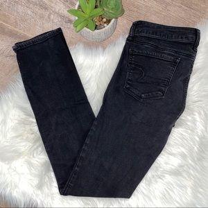 American Eagle Black Denim Skinny Jeans